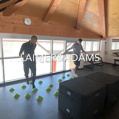 alinus Trainingssequenz Konrad Laimer und Tyler Adams